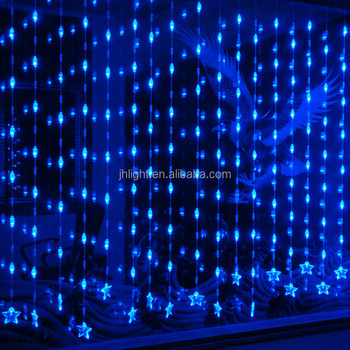 216m curtain christmas led lamp ac110 240v battery operated lights star