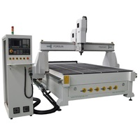 Woodworking Processing Centre row type CNC Router with ATC for Wooden Doors