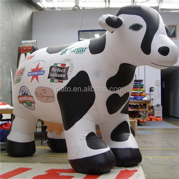 Advertising big size cow inflatable