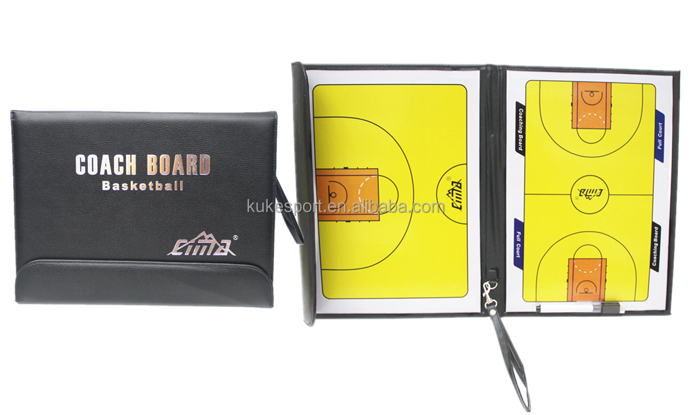 Cima Basketball magnet coach board foldable tactics board with orange zipper sport item Factory OEM