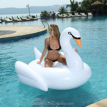 China Manufacturers Inflatable Black Swan Pool Float For Sale