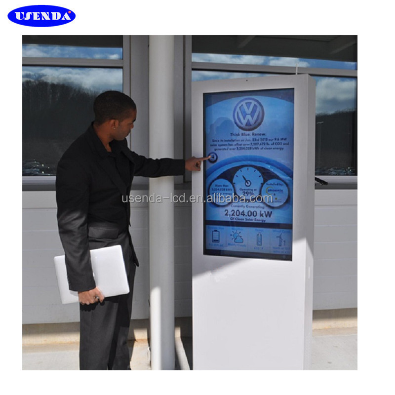 65'' 75'' 84'' TFT Type Outdoor Information Kiosk Android Outdoor Backlit LCD Dispaly Ad kiosk