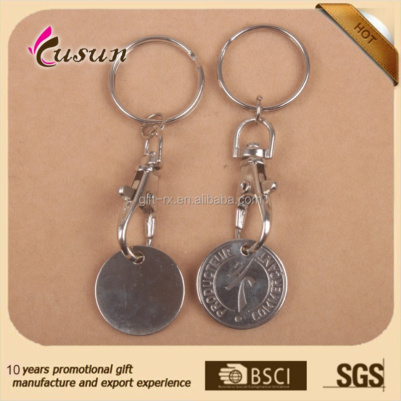 Promotional Low Price Colorful Coin Holder Key ring with custom logo