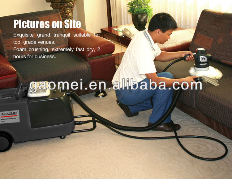 sofa using GMS-3 mini portable washing machine