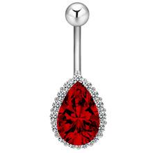 Cxwind кольцо из нержавеющей стали, штанга, пупок, пирсинг, очаровательные Кристальные циркониевые капли воды, кольца для живота, абсолютно нов...(Китай)