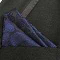 QXY mens fashion pocket square men tie handkerchief black blue banquet paisley polyester silk scarf F013