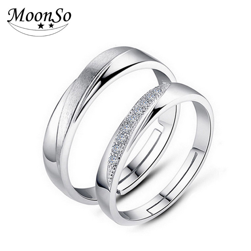 Wholesale 925 Sterling Silver Engagement Couple Ring Fashion Jewelry For Boys And Girls AR1524S