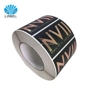 Custom Rose Gold Logo Sticker Adhesive Sticker Roll Gold Foil - Custom gold foil stickers