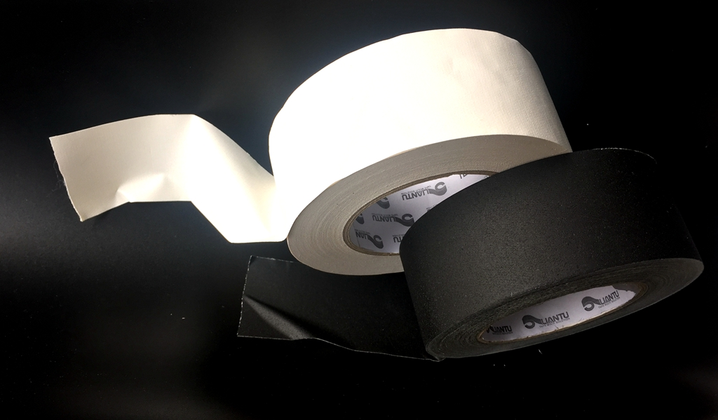 black white matte finished vinyl cloth Gaffers tape