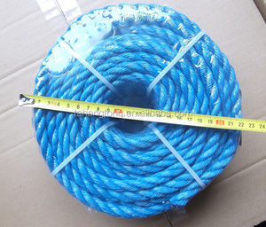 blue pp split film twist rope with competitive price