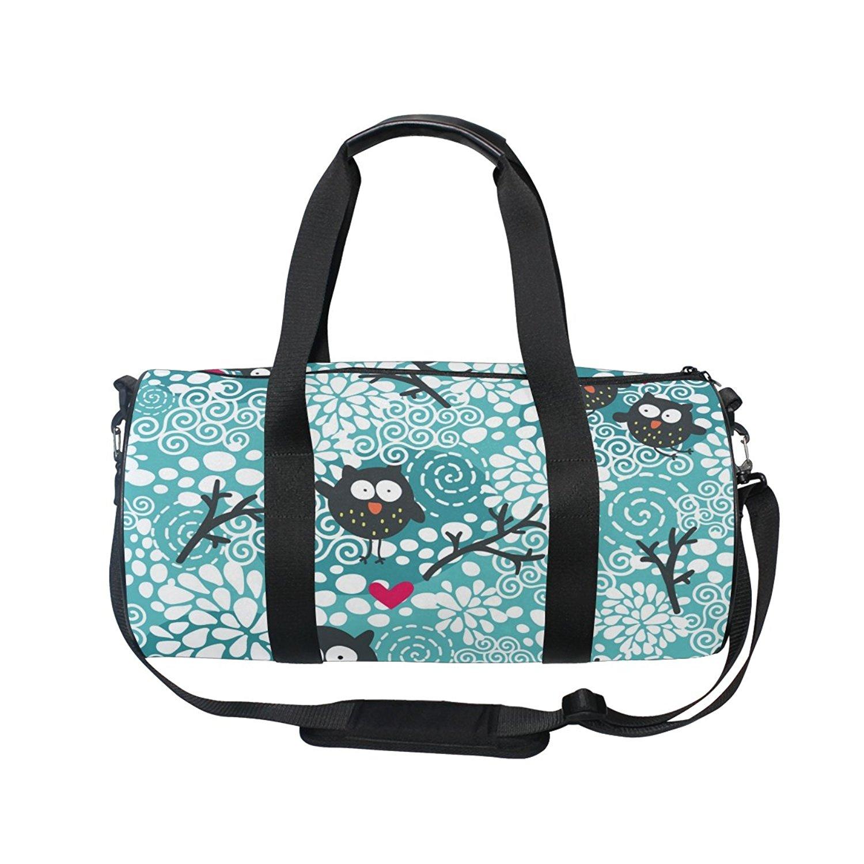 InterestPrint Carry-on Garment Bag Travel Bag Duffel Bag Weekend Bag Colourfull Owl Pattern for Kids