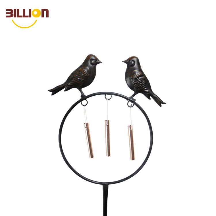Good Voice Unique Black Bird Sculpture Garden Decoration Stick Lawn Wind Chimes Stake