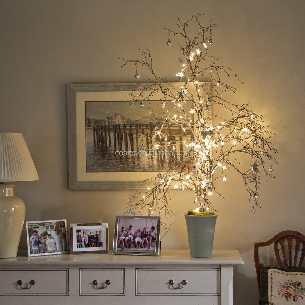 Christmas Falling Star String Battery Power LED Fairy Christmas - Star string lights for bedroom