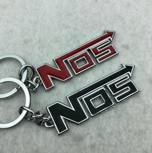 Custom and Hot sale NOS car emblem keychain and NOS sign key ring