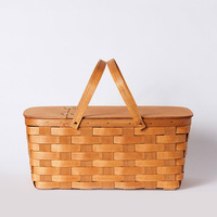 Honey with Lid Traditional bamboo Picnic Basket