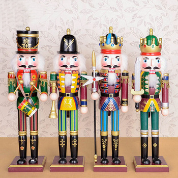 large christmas wooden soldier nutcracker - Large Toy Soldier Christmas Decoration