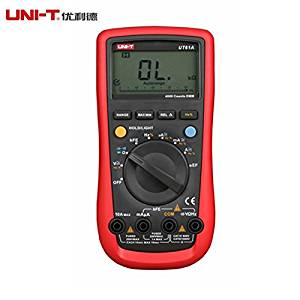 UNI-T UT61A Digital Multimeter Modern DMM Transistor NCN Tester Voltage Current Resistance Frequency Meter LCD Auto Range Supports RS-232 and USB Cable