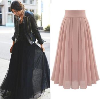 Z81082b Cheap Chiffon Latest Lady Skirt Design Pictures Woman Long ...