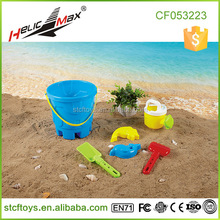 2015 Hot Item Cheap Sand Toys 6 Piece Play Plastic Small Beach Buckets