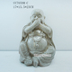 Laughing buddha stone statue for home indoor decoration