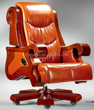 Excellent Adjustable Swivel Recliner Chair Luxury Orange Leather Office Chair For President Foha 06 Buy Orange Leather Recliner Chairs Office President Ncnpc Chair Design For Home Ncnpcorg
