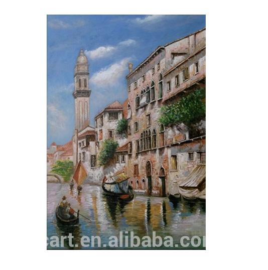 Puesta De Sol En Venecia Paisaje Pintura Digital De Diy Por Números En La Lona, Other Art Supplies Crafts