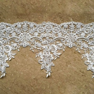 Shantou Lace Manufacturer chemical cording trim organza lace with sequins