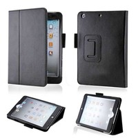PU leather with stylus holder stand case for ipad mini