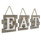 Eat Sign Decor for Kitchen, Home Distressed white rustic farmhouse Country Wall Art