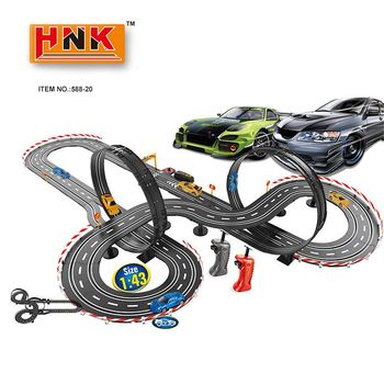 Kinder batterie doppel track high speed power 1:43 familie pack auto racing spielzeug slot auto track set
