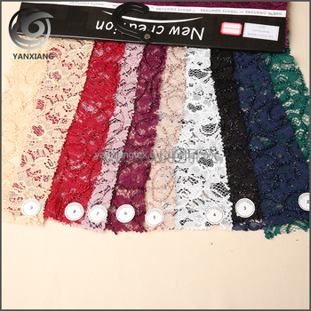 New fashional design burgundy color shinny tape embroidery fabric