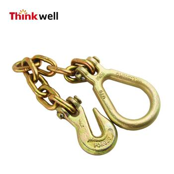 Drop Forged Grab Hook With chain and Clevis pear ring