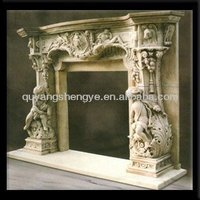 antiquate fireplace