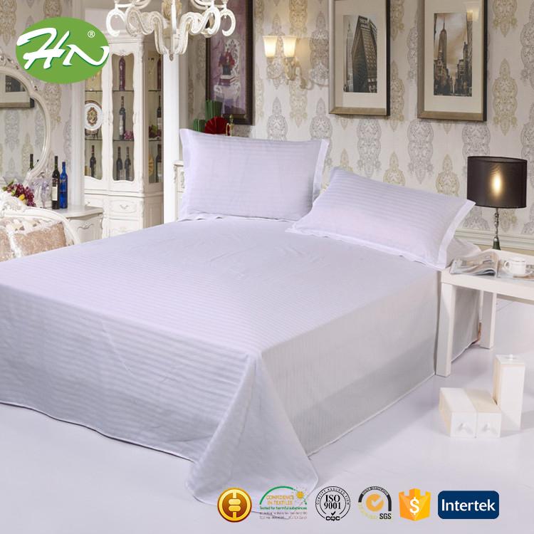 coton h tel plat drap de lit blanc pas cher literie id de produit 60267161641. Black Bedroom Furniture Sets. Home Design Ideas