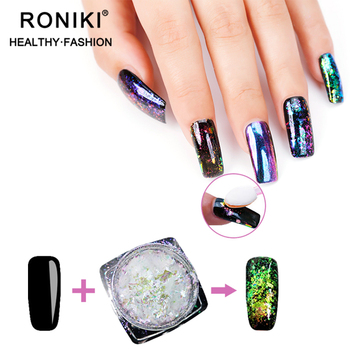 Roniki Shiny Effect Chameleon Color Magic Glitter Powder Nail Flake