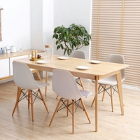 2019 Modern high quality wood dining table/dining table set