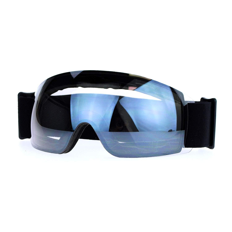 Snowboard Ski Rimless Sports Goggle Color Mirror Antifog Double Lens
