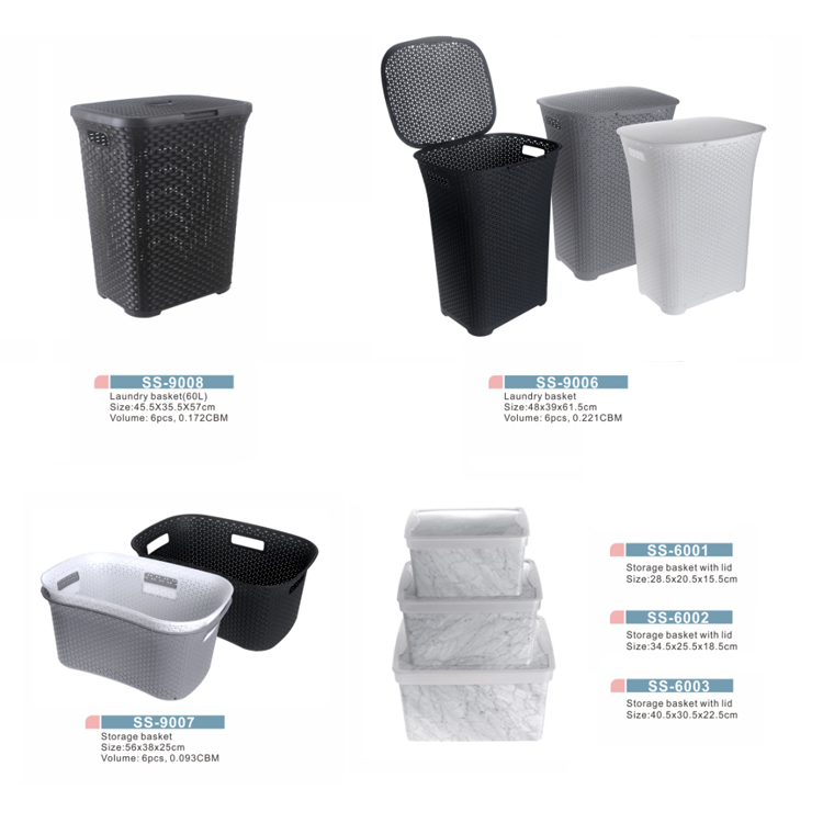 Plastic Laundry Storage Dirty Clothes Basket