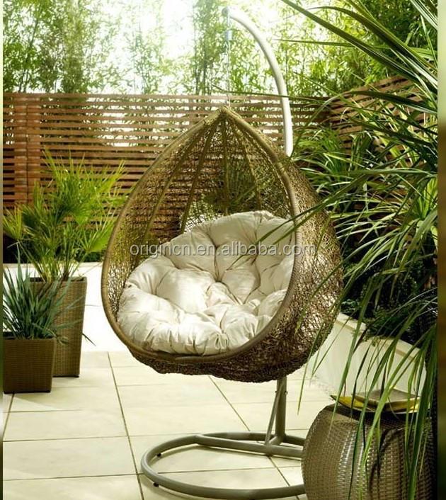 Popular Bird Nest Shaped Cozy Outdoor Garden Ratan Hanging Furniture