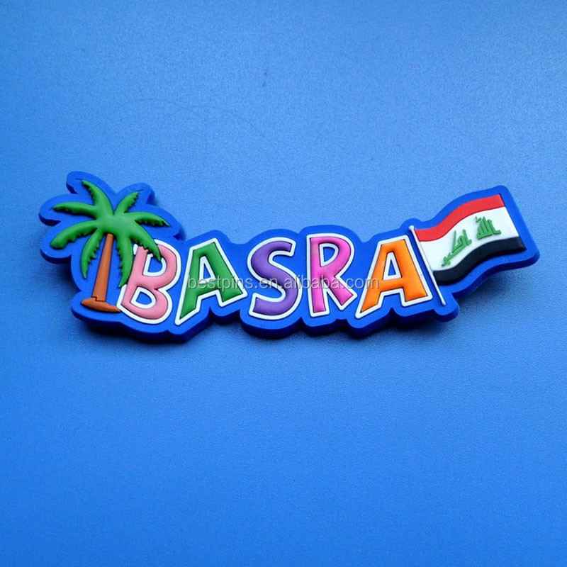 IRAQ country flag 3D soft pvc fridge magnets for BASRA tourist souvenirs