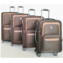 4 Piece Rolling Polyester red cross ultra lightweight turn 360 wheels luggage