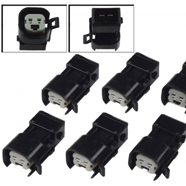 Adapter for injectors with US CAR connector Adapts US CAR connector to Boschs Jetronic (EV1) connector