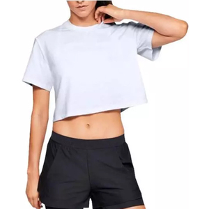 2019 Cheap Wholesale Promotional Womens Crop Tops Custom Logo Crop T Shirt For Girls