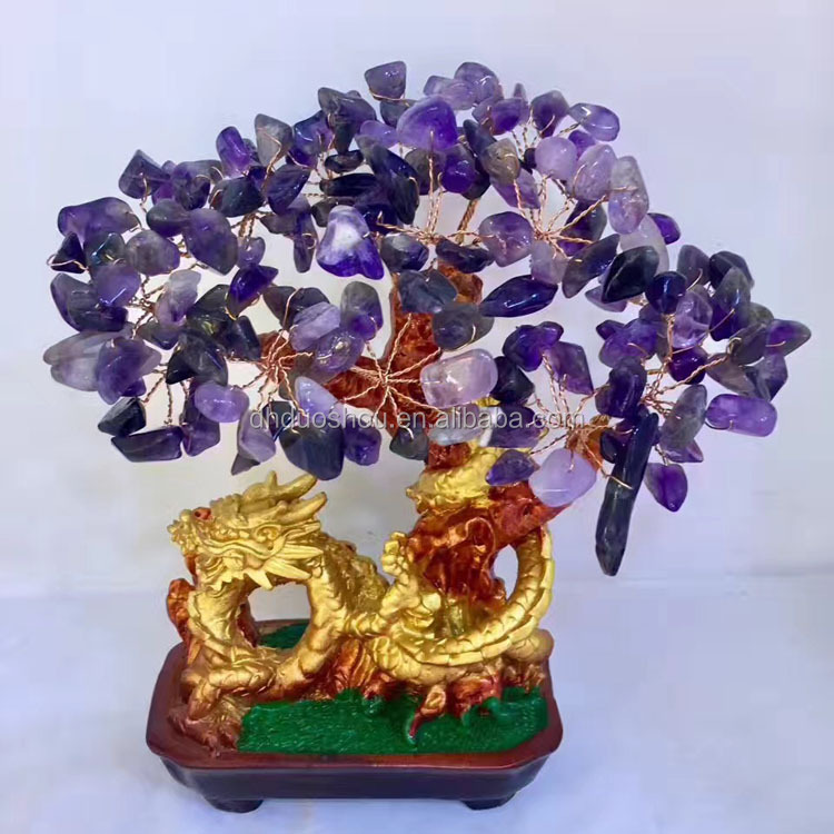 20 * 20 cm China Natural crystal tree amethyst tree for wholesale