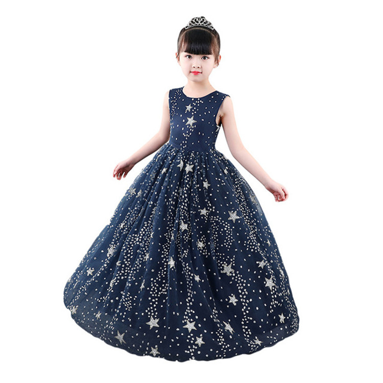 Reliable Flower Girl Dresses Princess Prints A Christmas Holiday Performance Dress Girl Christmas Party Banquet Dress Weddings & Events Superior Materials Wedding Party Dress