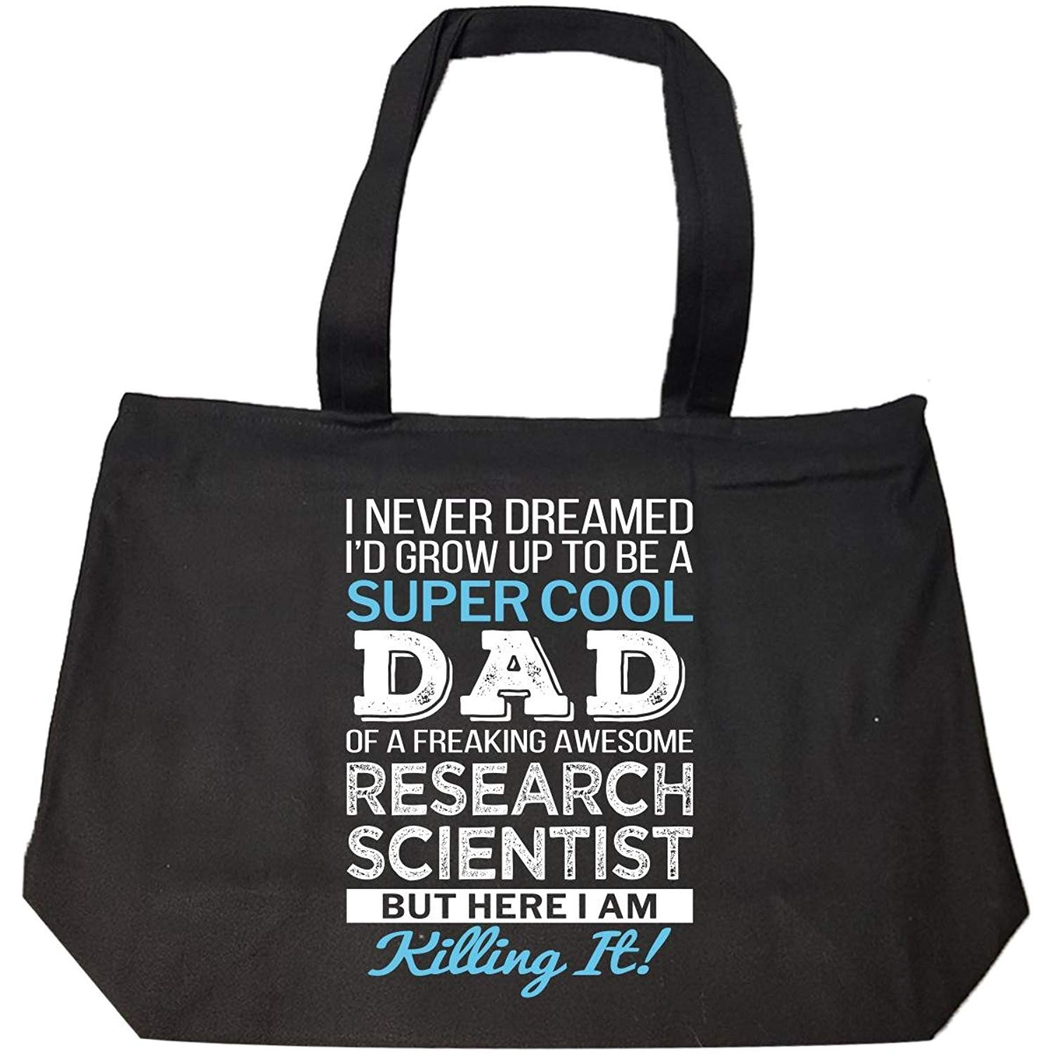 Super Cool Dad Of Awesome Research Scientist Dad Funny Gift - Tote Bag With Zip