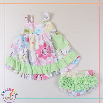2018 Summer Silp Casual Frocks And Bloomers For Teenage Baby Clothes