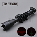 Tactical 4 16X50 EG Optics Riflescope Red Green Dot Illuminated Reticle Fiber Sight Scope With 20mm
