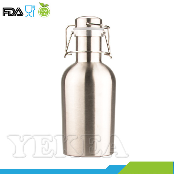1L Stainless Steel Growler Beer Manufacturer with Lid