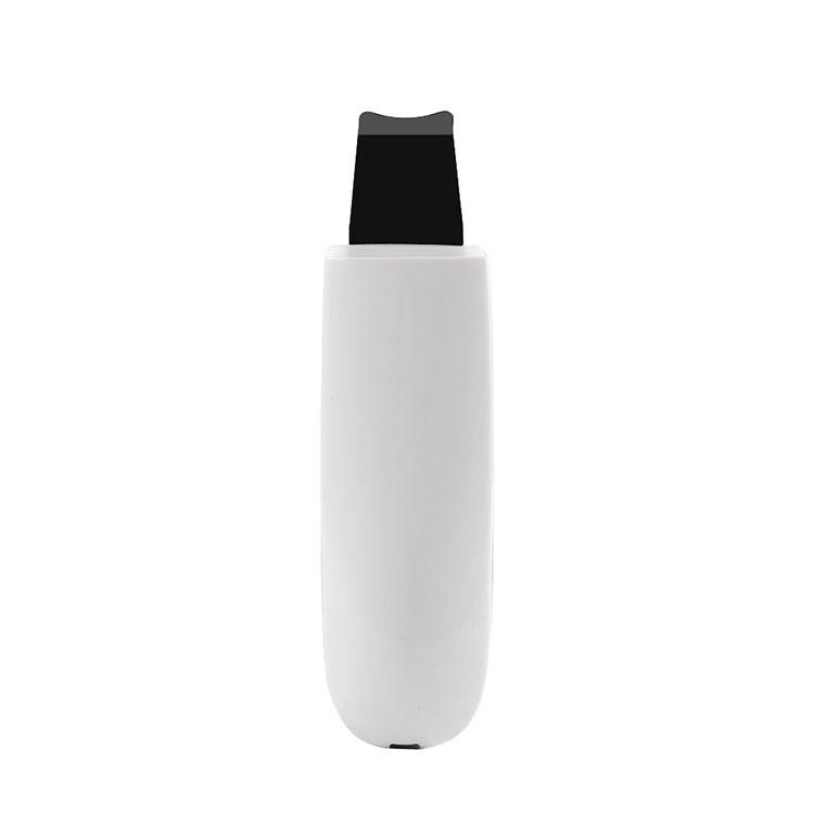 Professional sonophoresis ems facial face ultrasonic ion skin scrubber peeling spatula beauty machine portable, White
